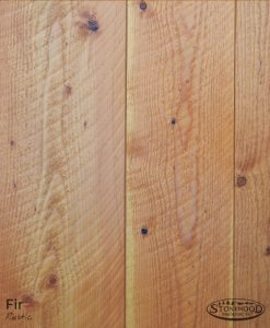 rustic circle-sawn fir flooring