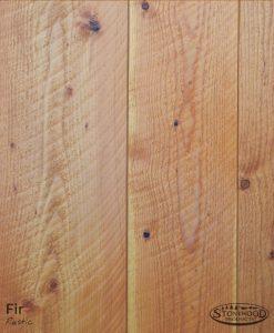 rustic circle-sawn fir flooring
