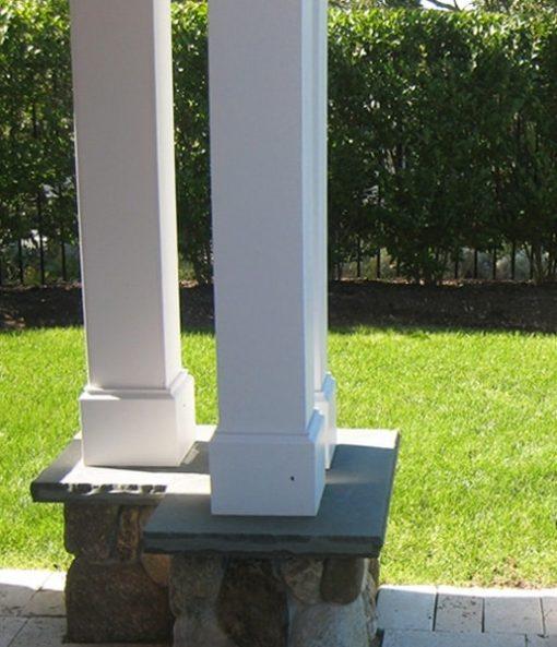 pvc pergola column paneling