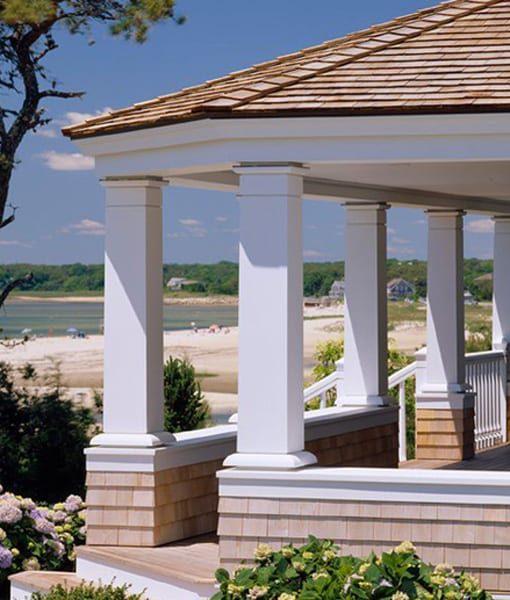 pvc trim on porch columns