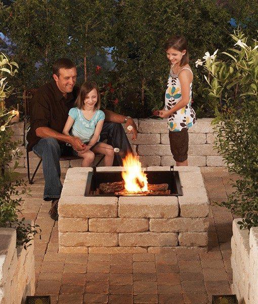 stone fire pit