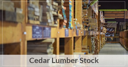 Cedar Lumber - Knotty & Clear Boards and More | Stonewood