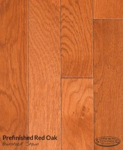 Prefinished Red Oak, Gunstock Stain