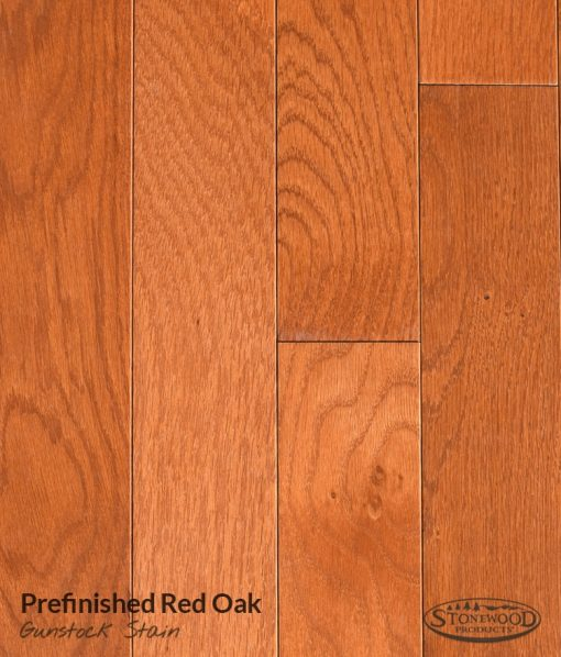 Prefinished Red Oak, Gunstock Stain