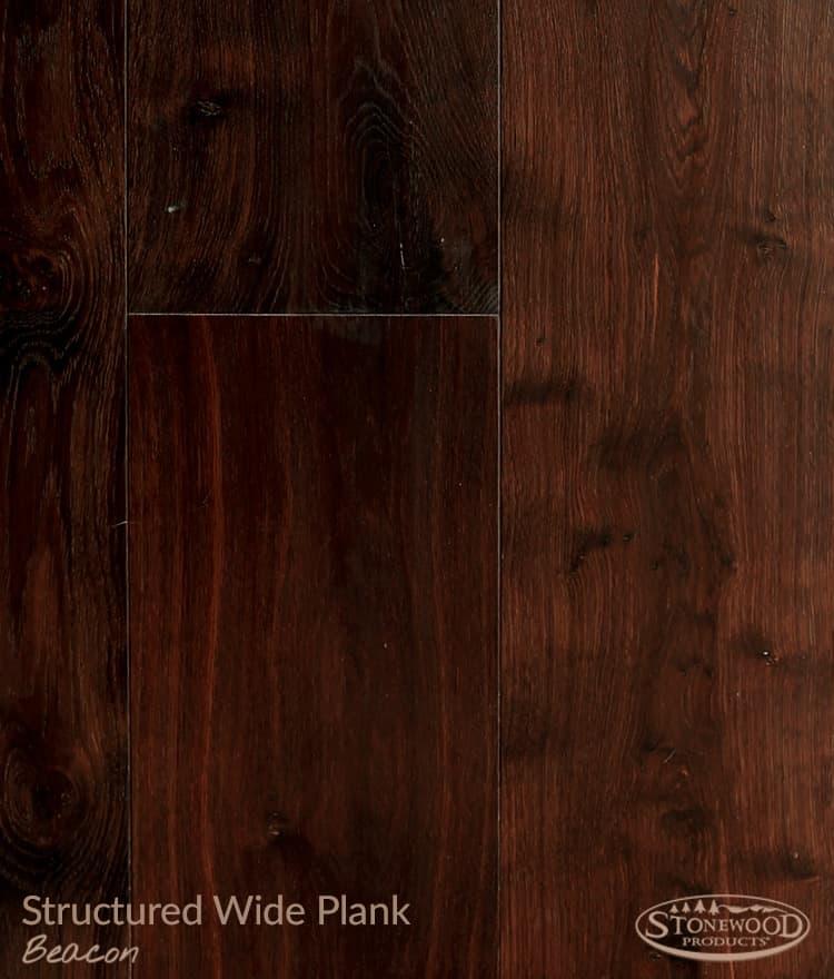 Beacon Structured Wide Plank Engineered Hard Wood Flooring
