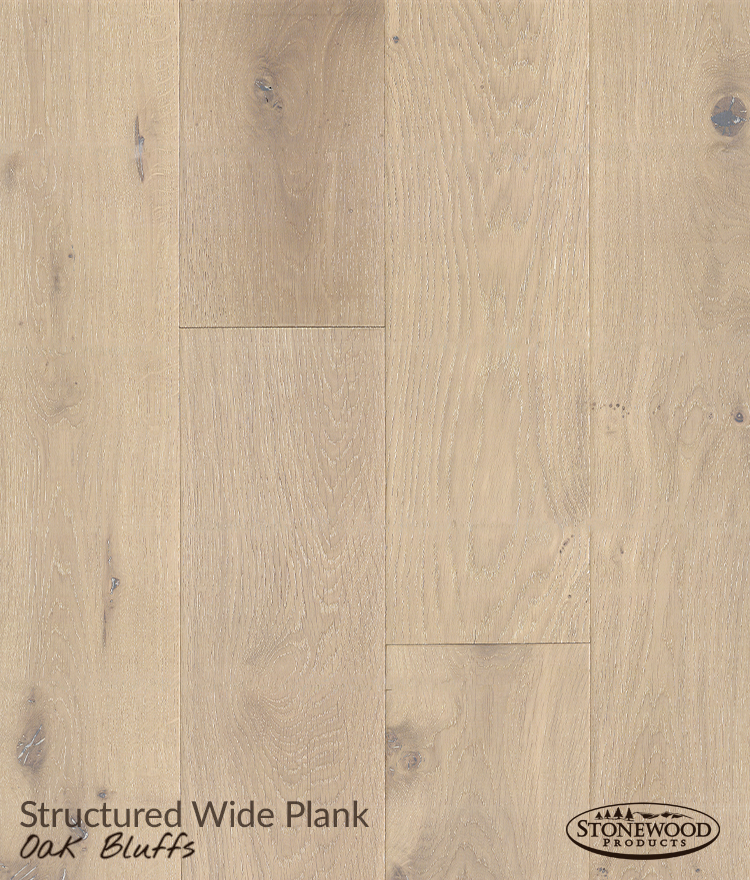 Engineered Hard Wood Floors, Structured Wide Plank Oak Bluffs