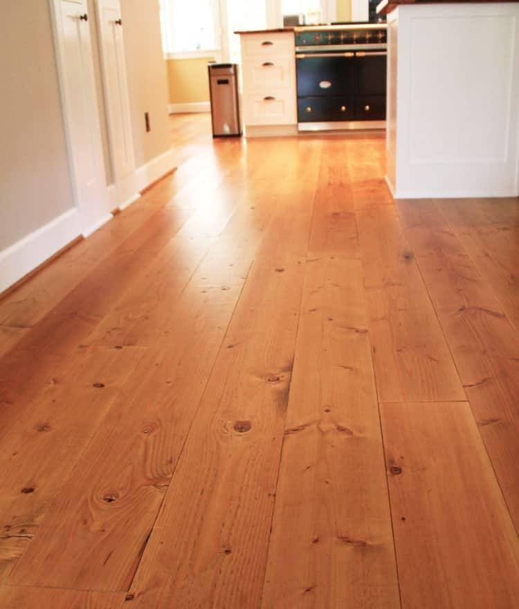 Premium Wide Pine Plank Flooring