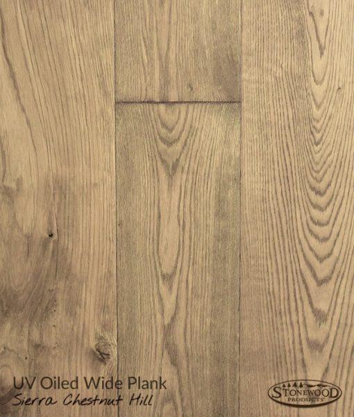 Wide Plank UV Oiled Prefinished Sierra Chestnut Hill Structured Engineered Hardwood Floors