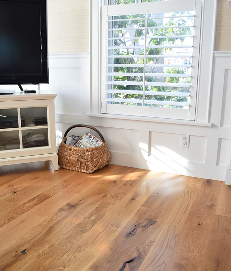Hardwood Oak Floor White Treads