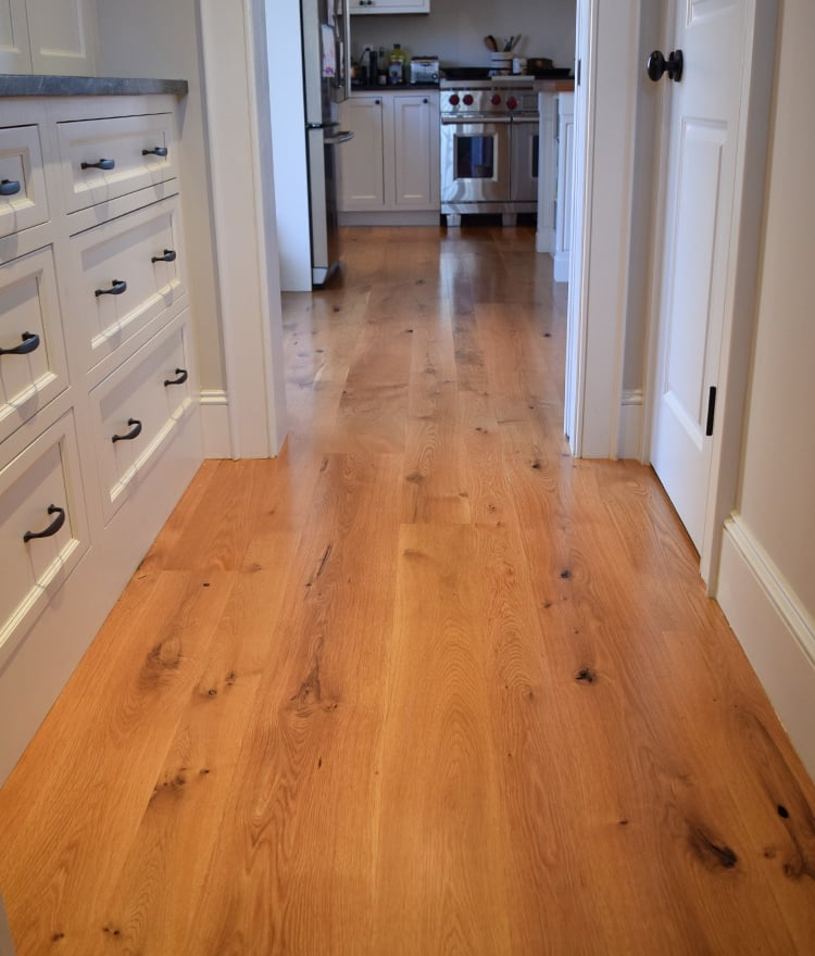 Hardwood Oak Floor White Treads Rustiv Plank