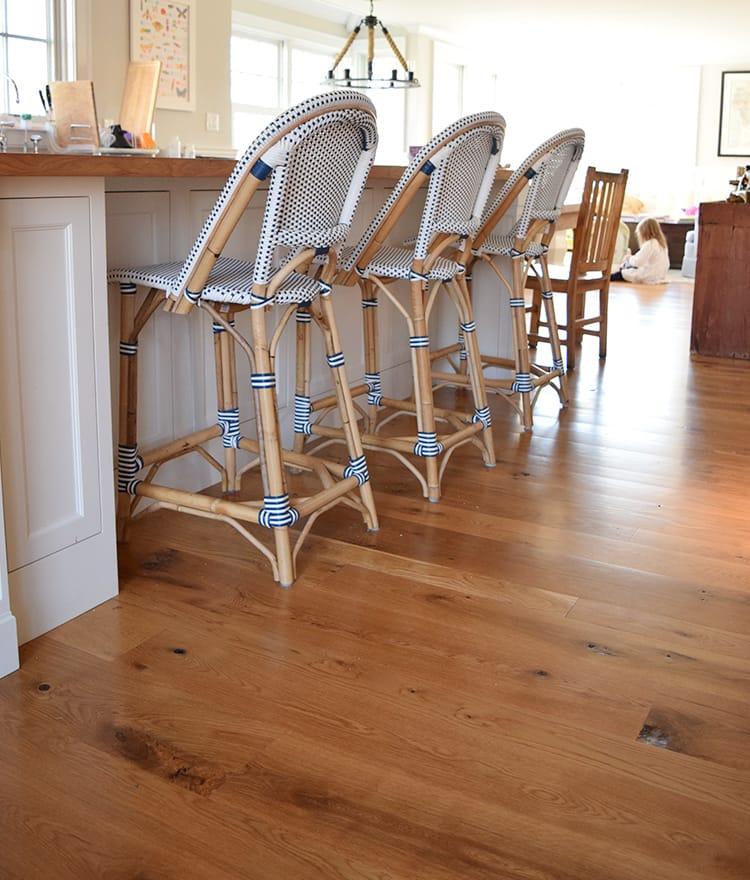 White Oak Planks ~ Rustic white oak plank flooring