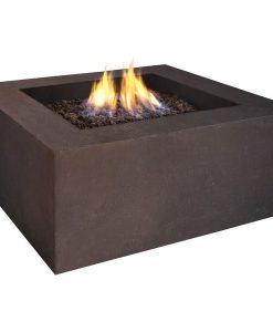 square fire pit propane