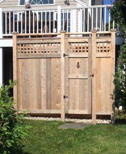 outdoor shower kit cedar lattice deluxe