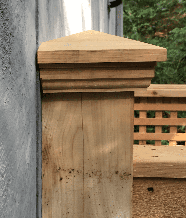 Cedar Post Cap | Shower Accessories | StonewoodProducts.com