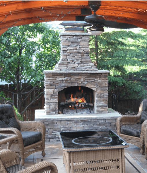 Outdoor Fireplace Kits Stonewood Products