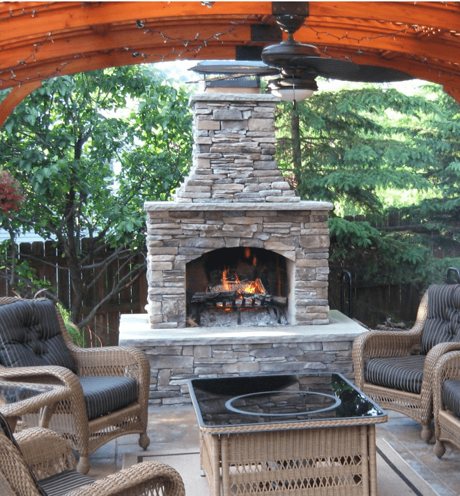 Backyard Fireplace Kits :   Outdoor Living  Outdoor Fire Pits  Wood Fire Pits & Fireplaces