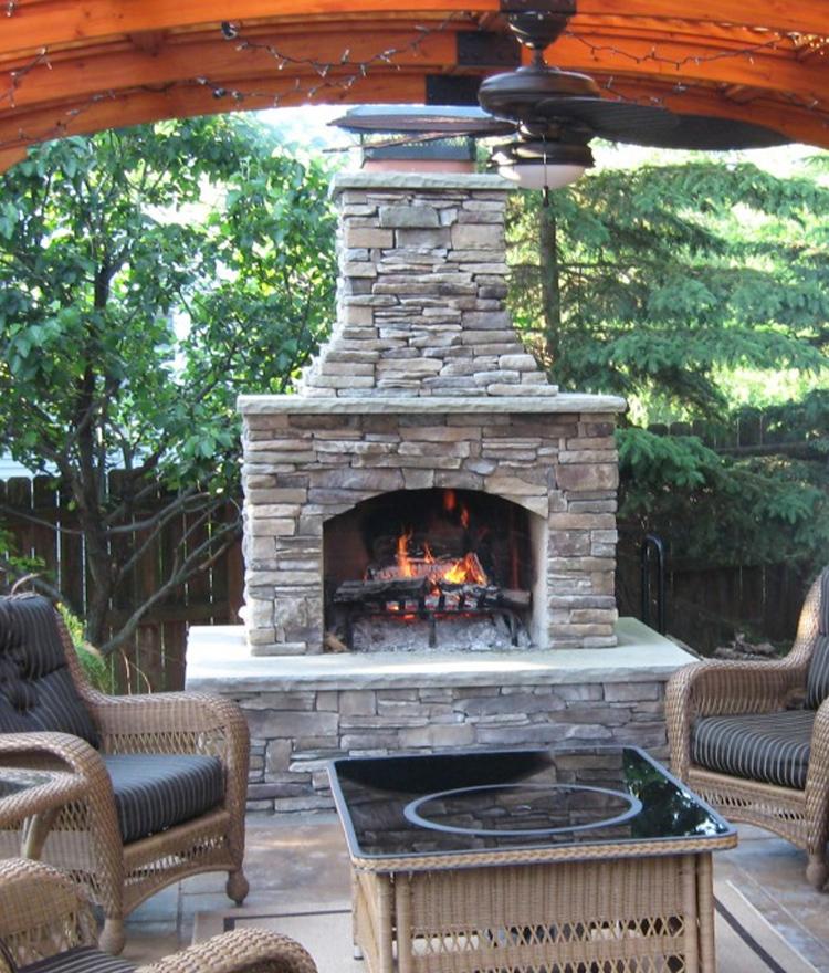 Outdoor Fireplace Kits Stonewood