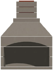 Arched Front Fireplace