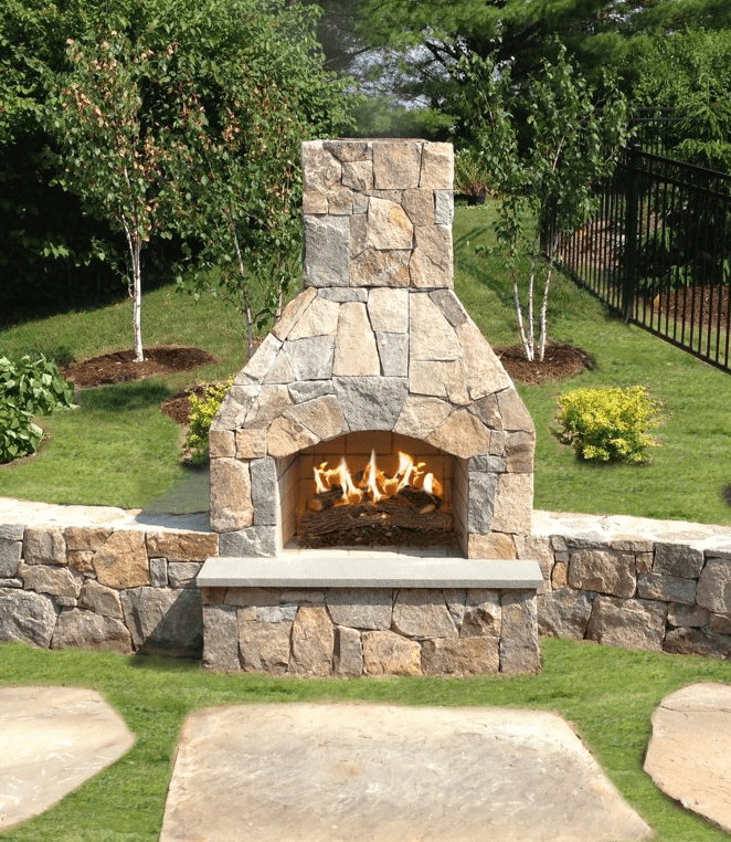 Outdoor wood burning fireplace kits Prefab outdoor wood burning fireplace