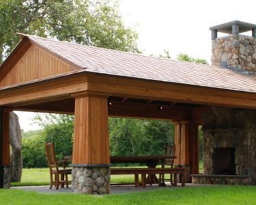 reclaimed wood pagoda