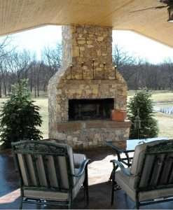 outdoor fireplaces kits plans