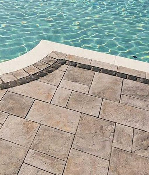stone pavers pool techo bloc Cape Cod
