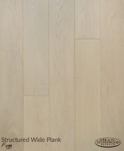 Wide Plank Engineered Hardwood Flooring, Structured Fogg by Sawyer Mason