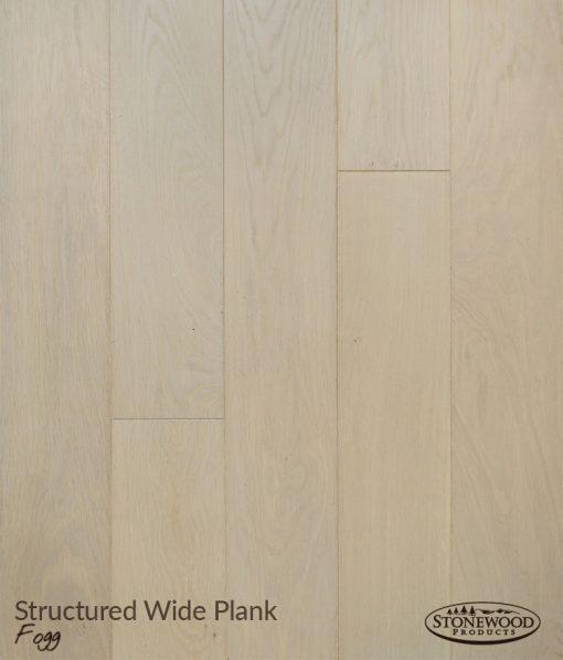 Wide Plank Engineered Hardwood Flooring, Structured Fogg by Sawyer Mason
