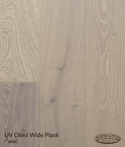Structured Engineered UV-Oiled Wide Plank French Oak Fossil