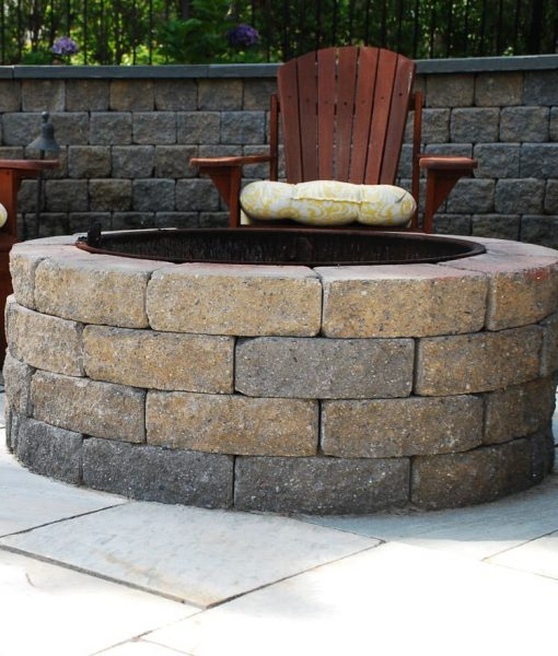 stone wood burning cape cod fire pit