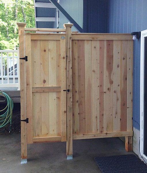 outdoor cedar shower 83 house mount