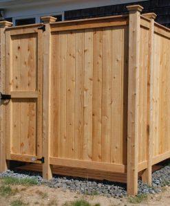 cedar shower kit outdoor MA FL SC