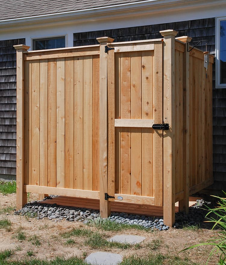 Outdoor Shower Kit Enclosures Cedar Wall Mount Showers