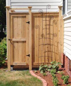 outdoor shower kit house mount cedar 83