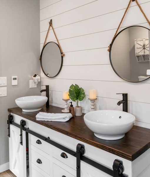 White Shiplap staircase with Esplanade flooring