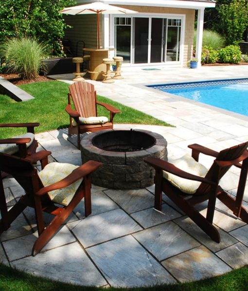 cape cod fire pit modular stone on patio
