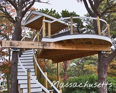 Adult Tree House Outdoor Living Room Cape Cod Boston