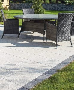 granite salt pepper patio