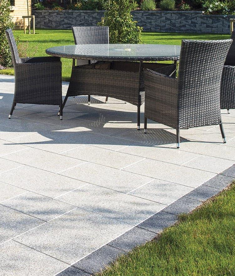 granite salt pepper patio - Granite Patio Pavers Salt & Pepper Easy Installation