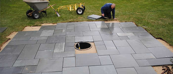 how to install pavers installing a patio step by step guide. Black Bedroom Furniture Sets. Home Design Ideas