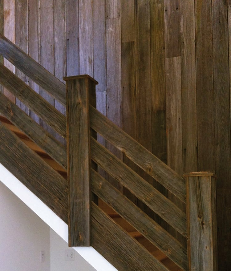 Reclaimed barn wood natural siding rustic wall