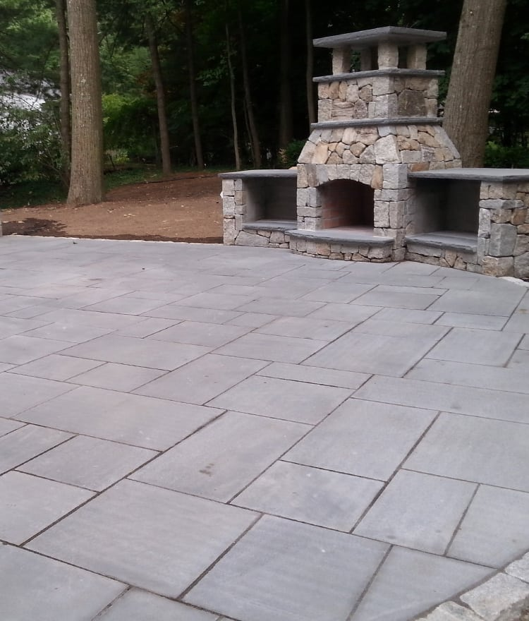 Dark thermal bluestone perfect for pools patios and for Blue stone paver patio