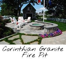 Corinthian Granite Fire Pit
