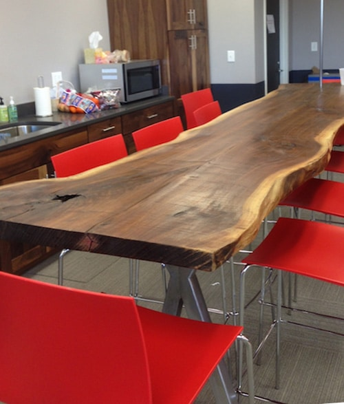 Walnut Slab Table Harvard
