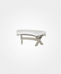 Ebel Portofino Outdoor Curved Bench with optional cushion