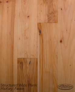 Engineered Wide Plank Flooring, Structured Hickory Pecan