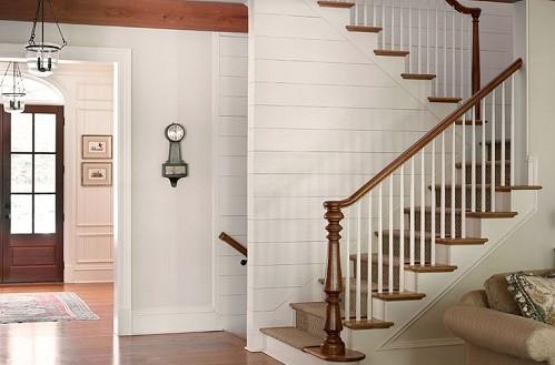 shiplap pine paneling white