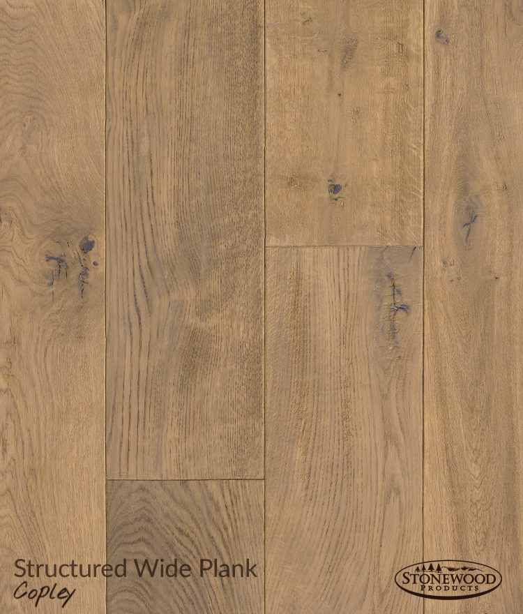 Wide Plank Engineered Wood Flooring, Structured Copley By Sawyer Mason