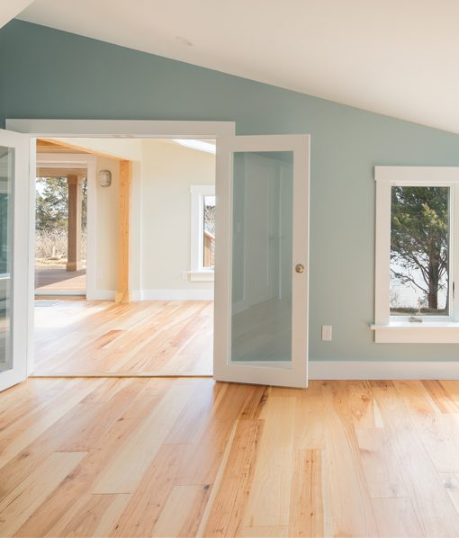 wide plank hickory floors