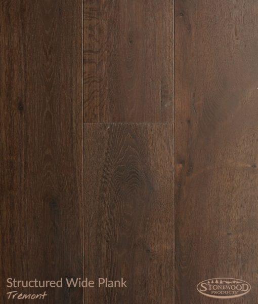 Wide plank hardwood flooring structured Tremont